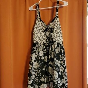 B&W Floral Summer Dress